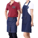 Opromo Pure Cotton Denim Apron Waiter Waist Apron with One Pocket Free Size