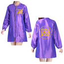 Custom Designed Your Own Beauty Satin Salon Long Sleeve Robes, Personalized Haircut Jacket Grooming Smock for Nail SPA Salon