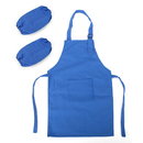 Opromo Colorful Cotton Canvas Kids Apron and Oversleeve Set, Party Favors(S-XXL)