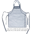 Opromo Unisex Adjustable Pinstripe Bib Apron with Two Pockets,Two Size(L,XL)