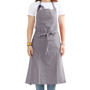 Opromo Unisex Adjustable Soft Cotton Bib Apron Solid Color House Simple Long Work Kitchen Apron
