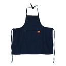 Opromo Unisex Parent and Kid Adjustable Denim Jean Bib Apron Cowboy Chef Apron with Pockets