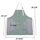 Opromo Adjustable Bib Apron with 2 Towels Stitched, Vertical Stripes Waterproof Aprons with Pocket