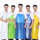 Opromo Unisex PVC Waterproof Apron, Super Oil and Stain Proof, Resistance Acid Alkali Work Apron Bib