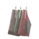 Opromo Waterproof Adjustable Cooking Aprons with 2 Side Coral Velvet Towels, Stitched Durable Pinstripe Aprons
