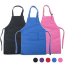 TOPTIE Cotton Canvas Aprons with Adjustable Neck Strap and Pocket, Artist Apron & Chef Apron for Cooking, Baking, Painting(S-XXL)