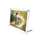 Aspire Acrylic Picture Frame Clear Free Standing Desktop L-Frame Base Photo Holder
