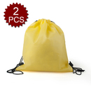 (Price/2 PCS) Opromo Durable Non-Woven Sports Drawstring Backpack, 14
