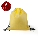 (Price/6 PCS) Opromo Durable Non-Woven Sports Drawstring Backpack, 14