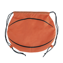 (Price/6 PCS) Opromo Basketball 210D Polyester Drawstring Backpack, 17
