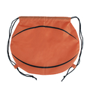 (Price/12PCS) Opromo Basketball 210D Polyester Drawstring Backpack, 17