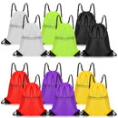 Opromo 2-Pack Polyester Water-Repellent Drawstring Backpack with Front Zipper