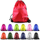 Opromo Polyester Water-Repellent Zipper Drawstring Backpack, 15
