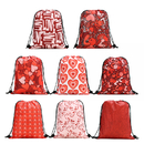 Opromo Valentine's Day Drawstring Bag Lightweight Sackpack Waterproof Handbag