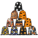 Opromo Xmas Gift Bags Santa Backpacks Halloween Drawstring Goody Bags Treat Bags