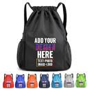 Personalized Waterproof Drawstring Backpack Nylon Gym Sport Sackpack Cinch Bag