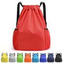 Muka Nylon Waterproof Drawstring Backpack Gym Sack Cinch Bag Sports Sackpack Bag