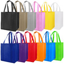 Opromo Durable Large Non-Woven Grocery Tote Bag with Reinforced Handle, 13