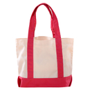 Aspire Cotton Canvas Tote Bag with One Front Open Pocket, 17.25 x 12.25 x 4.25 inches