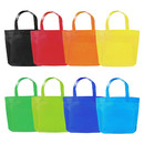 Opromo Non-Woven Party Gift Tote Bags, Rainbow Colors With Handles For Birthday, School, Shopping (S-L)