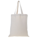 (Price/1PC) Opromo 12oz Canvas Reusable Grocery Tote Bag, for DIY, Three Colors, 14 x 15 inches
