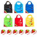 Aspire Strawberry Foldable Tote Bag with Handles, Reusable Grocery Shopping Bags, Lightweight and Portable(Mix Colors)