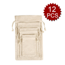 Opromo Cotton Drawstring Muslin Bags Produce Bags Vegetable Storage bags