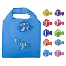 Opromo 10 Pcs Fish Shopping Bags Colorful Foldable Grocery Bag Handle Bag Reusable Tote Bags