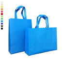 Opromo 2 Styles Reusable Non-Woven Grocery Tote Bags, Gift Tote for Kids Birthday,3 Sizes 12 Colors