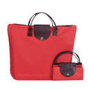 Opromo Foldable Oxford Shopping Tote Handbag Women's Tote Crossbody Bag Travel Handle Bag