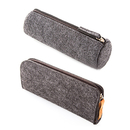 (Set of 2) Opromo Gray Felt Pen Pencil Case Stationery Pouch, 7-7/8