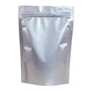 50 PCS Aspire Silver Foil Stand Up Pouch Bags, Mylar Zip lock Pouch Bags w/ Notch, 1 OZ to 5 LB