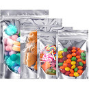 50 PCS 4 LB Reusable Aluminium Foil Zip Lock Stand Up Food Pouches Bags, 11.75