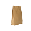 (Price/50 PCS) Aspire 2 LB Natural Kraft Quad Seal Bags
