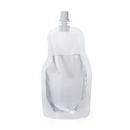 Custom 8.5oz Clear Spouted Liquid Stand up Pouch, 4mil, 8.6mm Spout, FDA Compliant