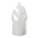(Price/50 PCS) White Poly Spouted Stand up Pouch for Shampoo, Liquid Soap, 13.5 Fluid Ounces, 5.9mil, 13mm Spout, FDA Compliant, BPA Free