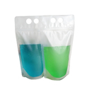 (Price/50 PCS) Aspire Heavy Duty Translucent Frosted Stand up Juice Pouches with Ziplock, Hand-held, 4 Mil, (12oz, 16oz, 25oz, 34oz), FDA Compliant