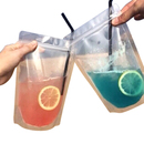(Price/50 PCS) Aspire Frosted Ziplock Stand-up Juice Pouches, 4 Mil, Multiple Sizes (4oz, 8oz, 13oz), FDA Compliant