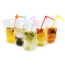 (Price/50 PCS) Aspire Clear Ziplock Stand-up Juice Pouches, 4 Mil, Multiple Sizes (4oz, 8oz, 13oz, 16oz), FDA Compliant