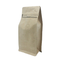 (Price/50 PCS) Kraft Side Gusseted Bags, Coffee Bags w/Double Ziplock, Pull Tab Zipper, FDA Compliant