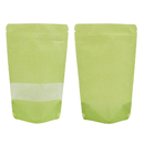 (Price/ 50 PCS) Aspire Eco-Friendly Rice Paper Stand Up Pouch Bags with Ziplock and Clear Window, 5 mil
