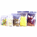 (Price/50 PCS) Front Clear/ Back Silver Flat Pouch with Ziplock, 4 Mil, FDA Compliant, ( 0.5 OZ to 2 LB )