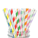 (Price/100 PCS) Aspire Assorted Paper Straws, 7.7