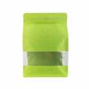 (Price/ 50 PCS) Aspire Eco-Friendly Rice Paper Side Gusseted Pouch Bags with Zip, 5 mil