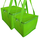 Aspire 2 Pack Insulated Zipper Cooler Bags , Four Sizes , Sturdy Waterproof Collapsible Non-woven Bags , Color Random