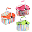 Opromo 20L Folding Insulated Picnic Basket for Holidays Parties Outdoor Travel Camping Grill Work