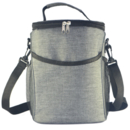 Aspire  600D Oxford Cloth Zipper Insulated Lunch Bag with Shoulder Straps and Mesh Pockets ,Cooler Bag ,9 7/8