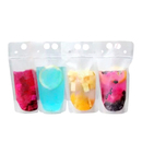 50 PCS Muka Heavy Duty Frosted Stand up Juice Pouches with Straws, Hand-held, 4 Mil