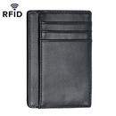 Opromo Mens Genuine Leather Slim RFID Blocking Front Pocket Card Wallet