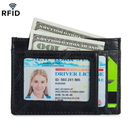 Opromo Slim Wallet RFID Blocking Front Pocket Minimalist Card Wallet Holder